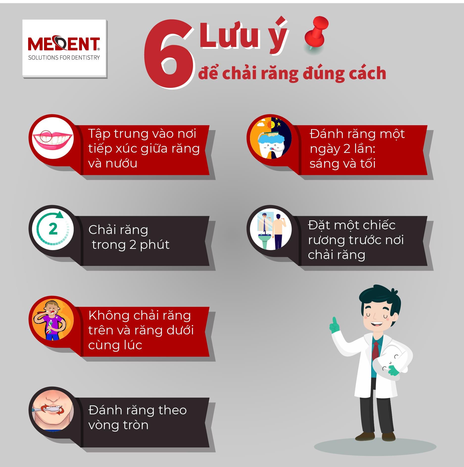 6 lưu ý để đánh răng đúng cách